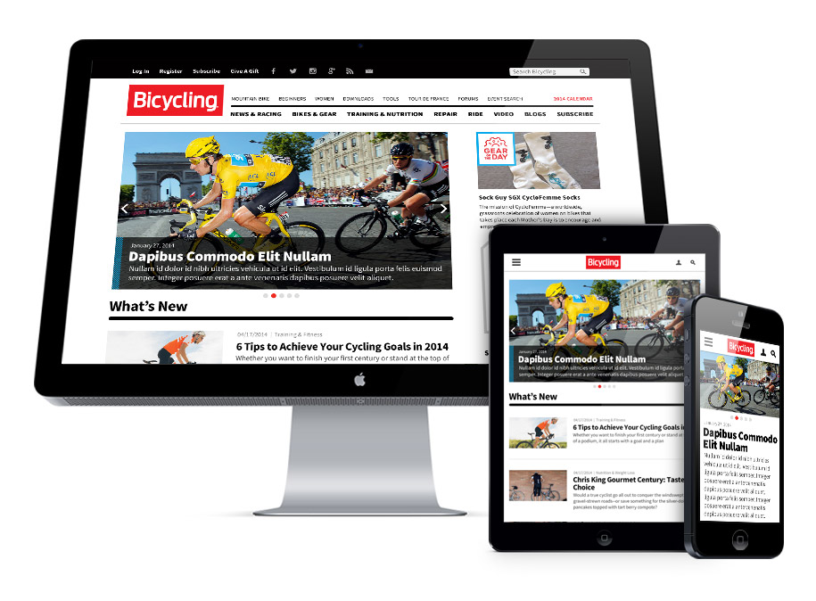 Bicyling Magazine Responsive Design and Development