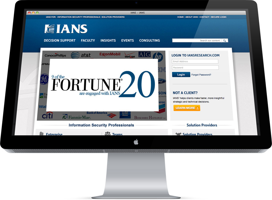 IANS website redesign