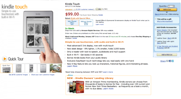 kindletouch CTA