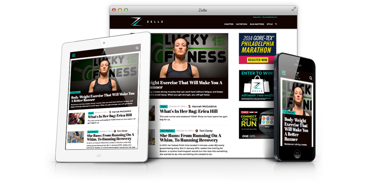 Runner's World Zelle Responsive Front-end Development